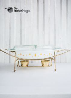 Vintage Pyrex Constellation Divided Dish And Cradle From Kitchenmagpies Personal Collection Click The
