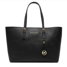 """❤️Michael Kors Leather Tote❤️ Still selling in stores for $298. Used for a few months & in good condition- there is a tiny tear at the top & shows normal wear. I have more photos in a separate listing. I only consider offers through the offer button, NO trades!  The bag you take anywhere & everywhere, season after season. This stylish, streamlined tote is the ultimate carryall- it's understated & beautiful.   -Saffiano Leather -Open Top -Fully lined -17"""" x 11.5"""" x 5"""" Michael Kors Bags Totes"""
