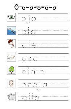 Spanish Lessons For Kids, Preschool Spanish, Spanish Teaching Resources, Preschool Writing, Kindergarten Games, Spanish Activities, Spanish Language Learning, Kids Writing, Preschool Activities