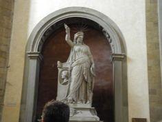 Statue of Poetry - Basilica di Santa Croce Florence, #Italy