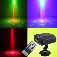 40 in 1 Remote Control Voice Activated Laser Strobe Stage Lighting