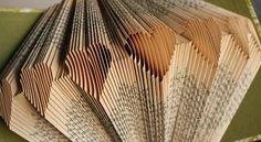 A book folding pattern heart