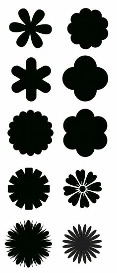 Patrones para hacer flores