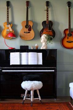 DIY Guitar Hooks on Little Green Notebook