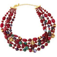 Jose & Maria Barrera Chunky Multi-Stone Necklace