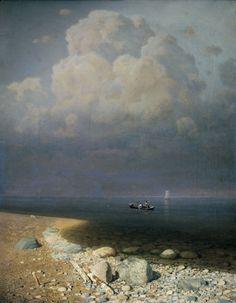 Arkhip Kuinji -   (Russian Painter 1842-1910) -   Lake Ladoga -   1873,   oil on canvas