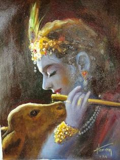 I am God's - this is real bhajan Shri Krishna playing flute and mother cow listening Krishna Leela, Baby Krishna, Jai Shree Krishna, Radhe Krishna, Lord Krishna Images, Radha Krishna Pictures, Radha Krishna Photo, Krishna Art, Lord Krishna Wallpapers