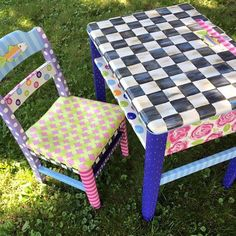 Custom desk set by the decorative paintbrush #paintedfurniture #redo #paint #childrensfurniture