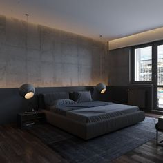 Bedroom Design Ideas – Create Your Own Private Sanctuary Men's Bedroom Design, Modern Bedroom Decor, Home Room Design, Home Bedroom, Home Interior Design, Minimalist Bedroom, Luxurious Bedrooms, Cheap Home Decor, Architecture