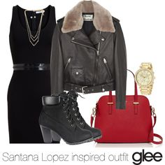 Santana Lopez inspired outfit/Glee by tvdsarahmichele on Polyvore featuring Givenchy, Acne Studios, Kate Spade and Michael Kors
