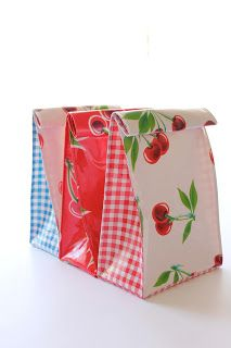 TUTORIAL - Lunch Bags. #sew