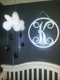 Black and white baby mobile - nursery decor!