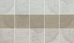 """Ceramiche Refin's FOSSIL Porcelain Tiles Collection have a 24""""x24"""" format available in 5 different patterns that can be randomly mixed."""