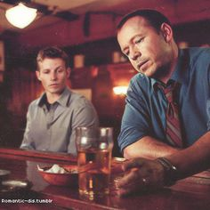 Donnie Wahlberg & Will Estes at the bar