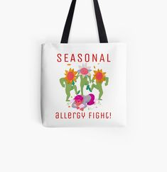 Promote | Redbubble Seasonal Allergies, Promotion, Reusable Tote Bags, Seasons, Seasons Of The Year