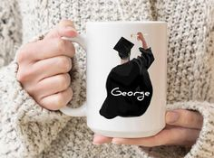 Graduation Gifts For Him, Personalized Graduation Gifts, Grad Gifts, Best Friend Mug, Friend Mugs, Personalised Name Mugs, My Best Friend's Birthday, Grandmother Gifts, Mug Designs