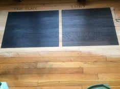ebony wood stain on pine * ebony wood stain ; ebony wood stain on pine ; ebony wood stain on oak ; Interior Wood Stain Colors, Blue Wood Stain, Wood Floor Stain Colors, Stain On Pine, Interior Walls, Staining Wood Floors, Staining Cabinets, Wood Flooring, Farmhouse Flooring