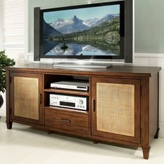 stereo console redo-like the sea grass doors and the drawer