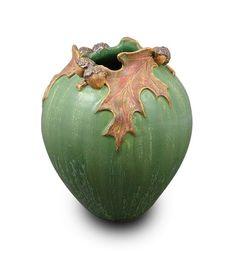 Ephraim Faience Pottery - Pin Oak Vase