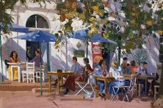 Roelof Rossouw Oil Paintings, Landscape Paintings, South African Artists, Visit France, Painting People, Faeries, Impressionist, Egypt, Fine Art