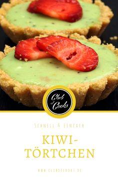 Diese kleinen, aber feinen Kiwi-Törtchen sind super schnell gezaubert und schmecken fruchtig-frisch! Ideal für den Sommer.