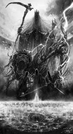 Martyr Logarius and Shadows of Yharnam Bloodborne Dark Fantasy Art, Fantasy Artwork, Zombies, Arte Viking, Arte Dark Souls, Bloodborne Art, Soul Game, Arte Obscura, Gothic Horror