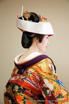 penteados para casamento noiva Japão