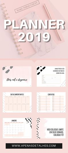 ideas planner organization ideas printables design for 2019 Agenda Planner, School Planner, Study Planner, Blog Planner, Planner Pages, Life Planner, Weekly Planner, Happy Planner, Printable Planner