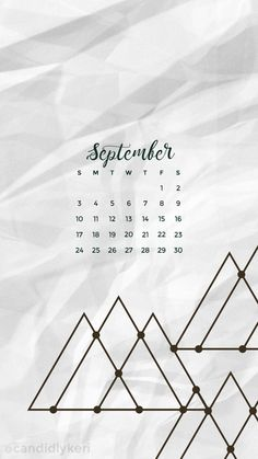 Mountain geometric shape crinkled paper September calendar 2017 wallpaper you can download for free on the blog! For any device; mobile, desktop, iphone, android!