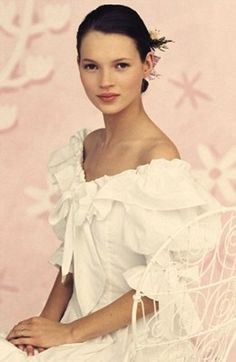 Can not believe this but I have this dress, it was Laura Ashely from England. My girls now use it for Pilgrimage with a hoop skirt.