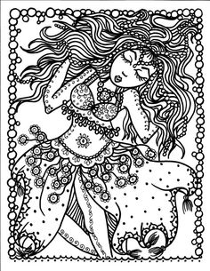 INSTANT DOWNLOAD  BELLY DANCER 5 PAGES  Coloring Page Crafting Page Scrap Booking Page      You will be able to instantly download these Prints.