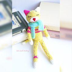 Crochet cat Amineko Cat crochet Kitten amigurumi toy, crochet stuffed animal, crochet animals, crochet plush toy вязаный кот Аминеко by CuteLambKnitting on Etsy