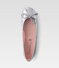 Pretty Ballerina Metallic silver