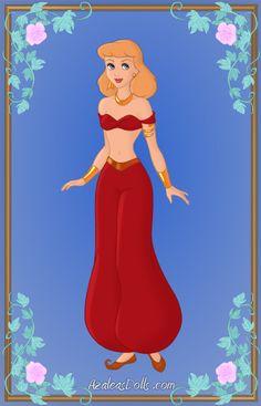 Cinderella as Jasmine2 by Heroine-FA-C-n-Xover.deviantart.com on @deviantART