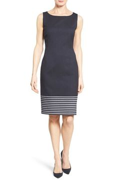 BOSS BOSS 'Dafila' Stripe Wool Sheath Dress available at #Nordstrom