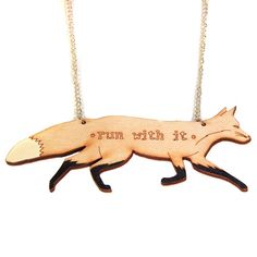 'Run With It' Fox Necklace