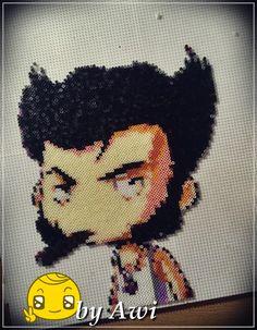 Wolverine X-Men Hama mini beads by Awi87