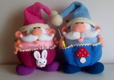Crochet Patterns - Amigurumi XL, obese Auxiliary Imp, crochet pattern - a designer piece of Mala designs on DaWanda
