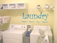 Laundry Room Quote Decal Sticker Wall by PerfectPeacocks on Etsy, $20.00
