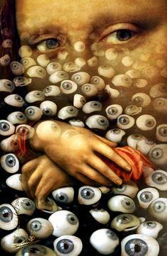 Gioconda, the unforgettable eyes  / visual metaphor