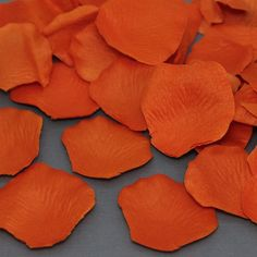 200 Burnt Orange Silk Flower Wedding Petals By PackagePerfectBows, $3.99  Get 5