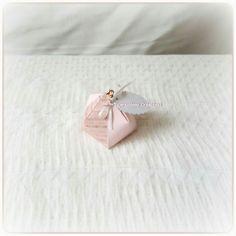 Ballotin à dragées Bourse - version imprimé/rose