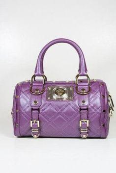 Versace Handbags Purple Leather