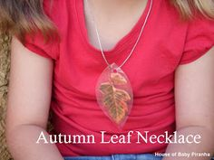 House of Baby Piranha: Autumn Leaf Necklace
