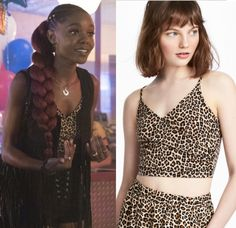 eae8d58481a9 Josie McCoy (Ashleigh Murray) wears this leopard animal printed cropped  wrap camisole in this episode of Riverdale