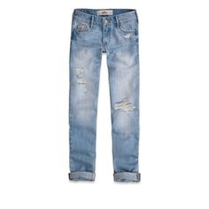 Hollister Devin Boyfriend Jean ($30) ❤ liked on Polyvore featuring jeans, pants, bottoms, denim, destroyed light wash, boyfriend fit jeans, blue boyfriend jeans, destroyed boyfriend jeans, embellished jeans and distressed jeans