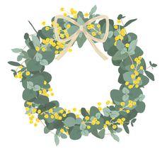 Outline, Floral Wreath, Sticker, Wreaths, Flowers, Floral Crown, Door Wreaths, Stickers, Deco Mesh Wreaths