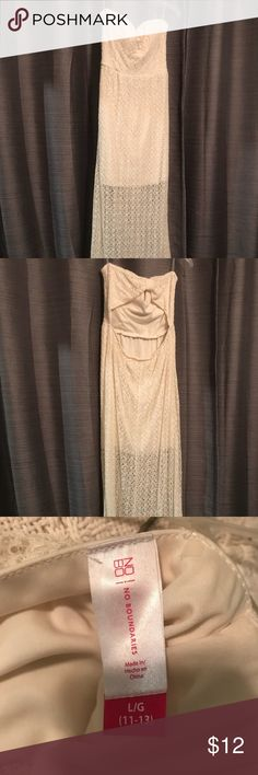 Strapless Maxi Dress EUC This flowing maxi dress is a size 11-13 and was only worn once for my daughter's newborn photography session. EUC No Boundaries Dresses Maxi