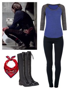 """""""Maggie Greene 3x02 - twd / the walking dead"""" by shadyannon ❤ liked on Polyvore featuring Kenzo, STELLA McCARTNEY, belle by Sigerson Morrison and maurices"""