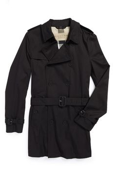 Always on trend for fall - Burberry Brit trench coat.